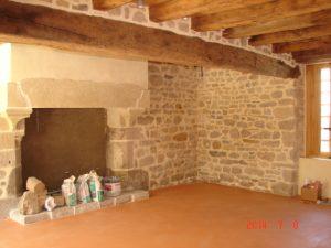 Rénovation intérieur de maison, nettoyage de pierre