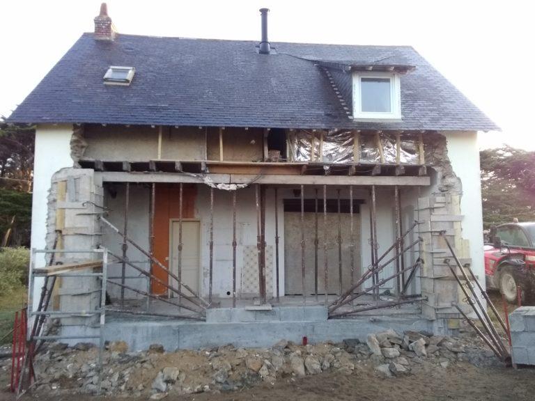 Percement murs de façade et porteur